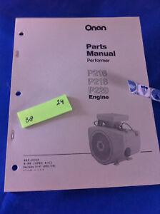 onan p216 p218 p220 engine performer parts manual catalog . | ebay  ebay