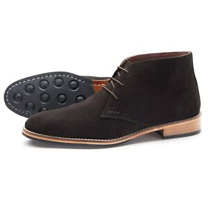 Samuel-Windsor-Men-039-s-Suede-Rubber-Sole-Derby-Chukka-Ankle-Boots-UK-Size-5-14-NEW