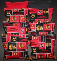 Cornhole Bean Bags W Chicago Blackhawks Fabric 8 Aca Regulation Game Toss Bags