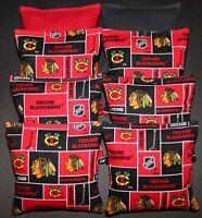 Cornhole Bean Bags W Chicago Blackhawks Fabric 8 Aca Regulation Game Toss Bags