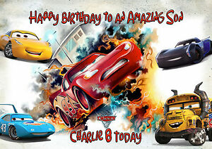 Image Is Loading Personalised Birthday Card Cars 3 A5 Size Son
