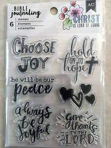 American-Crafts-BIBLE-JOURNALING-CLEAR-STAMPS-CHOOSE-JOY-NEW