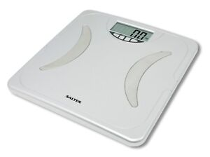 Image Is Loading Salter Silver Digital Lcd Bathroom Scales Body Fat