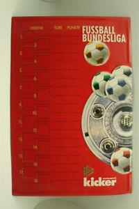 Kicker-Calcio-Bundesliga-Tabella-Targa-di-Latta-Lavagna-Magnetica-D-1990er