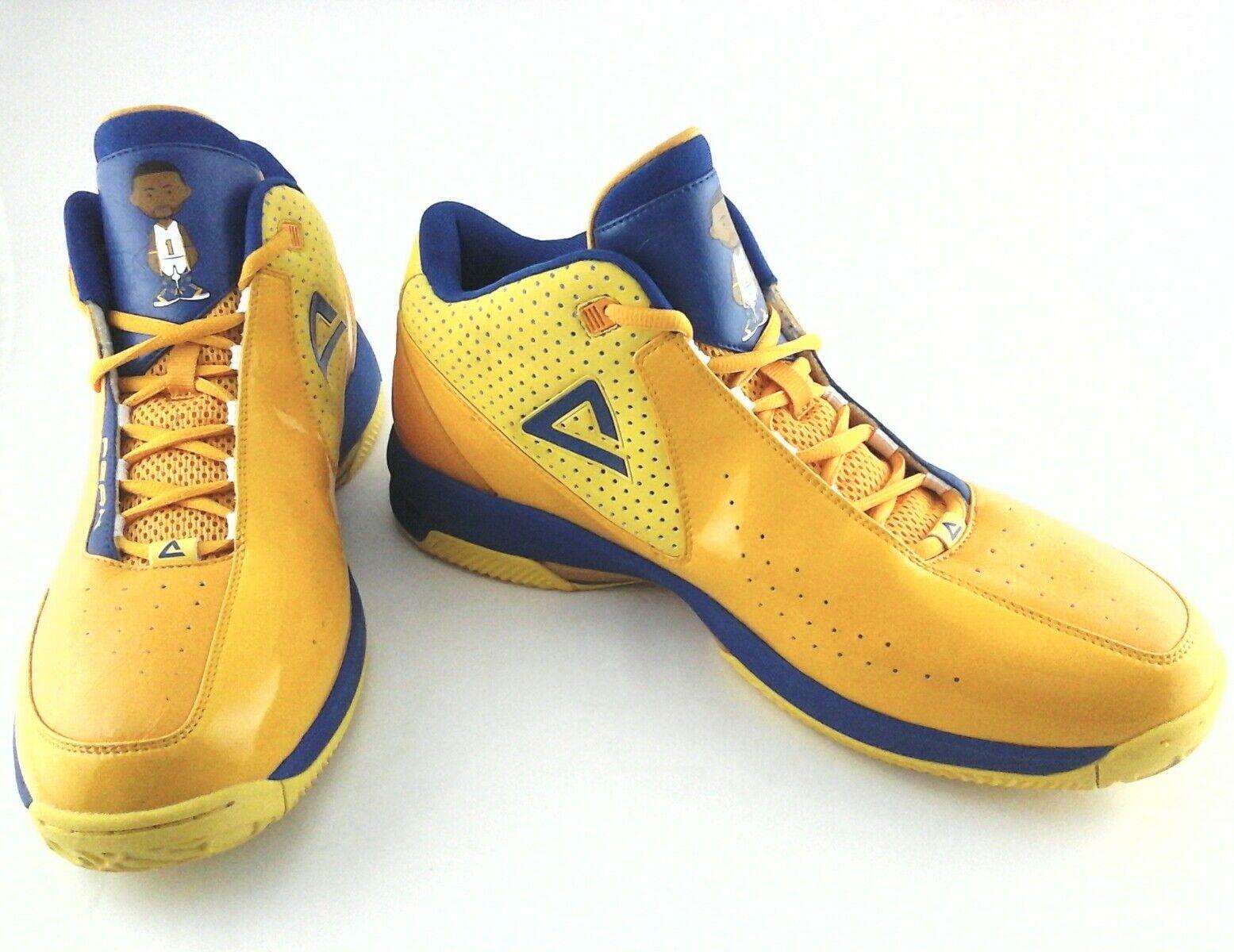 Peak DW Mens Basketball Basketball Basketball NBA Turnschuhe schuhe Lakers Farbes Gelb Blau Ultra Rare f2ba45