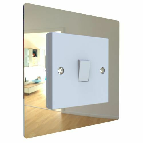 Single, Double Light Plug Socket Switch Surround Acrylic Finger Plate Panel