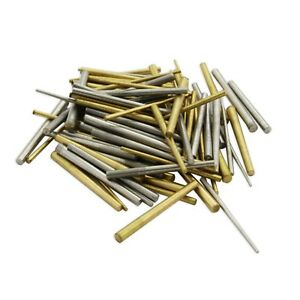100 x Clock taper pins steel brass assorted mix sizes pin tapered repairs parts