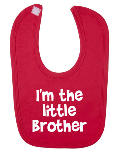 I/'m The Little Brother Baby Bib New Born Baby Funny Baby Bib. Christening