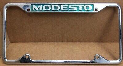 Verry Rare 1960s Modesto California License Plate