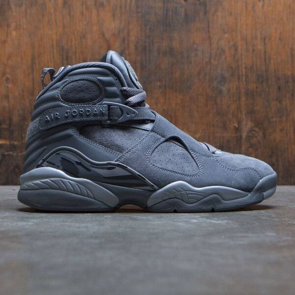 2017 Nike Air Jordan 8 VIII Retro Cool Grey Size 12. 305381-014 playoff aqua