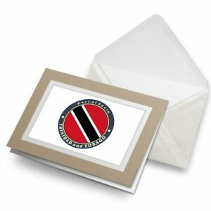 Greetings-Card-Biege-Trinidad-and-Tobago-Flag-Travel-5044