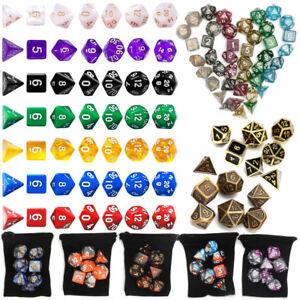 7-49X-Polyhedral-acrilico-mazmorras-dragones-dados-multiples-lados-juego-de-rol