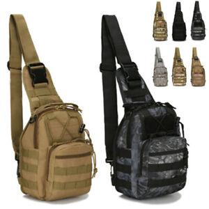 Tactical-Chest-Bag-Backpack-Men-039-s-Molle-Crossbody-Sling-Messenger-Shoulder-US