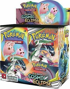 Pokemon COSMIC ECLIPSE Sun /& Moon Booster Box 36 packs New Sealed