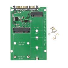 """mSATA SSD to SATA M.2 B B+M KEY NGFF /& 2.5/"""" III Board Adapter Converter Card k"""