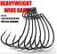 thumbnail 1 - Wide Gap Worm Hook Jig Fishing Hooks Hook Soft Plastic Baits STRONG 2# to 5/0#