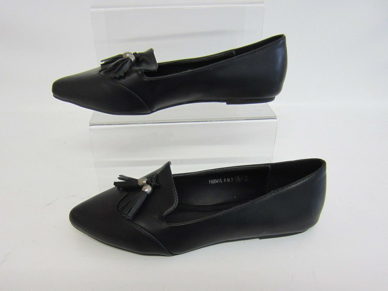 Spot On f80041  Zapatos  Tallas planos mujer Negro Piel Sintética GB Tallas  4 To 8 (R1B) 7c2e98