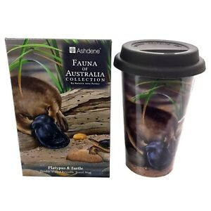 Australia-Souvenir-Platypus-amp-Turtle-Double-Walled-Bone-China-Travel-Mug