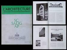 L'ARCHITECTURE 1939 LYCEE METZ, ROUBAIX, RAYMOND SUBES, LYCEE DROUANT PARIS