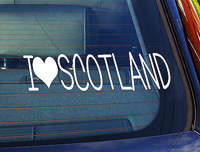 La estática coche ventana sign//decal Sticker I Love Escocia