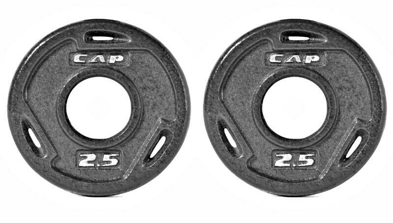 Weight Plate PAIRS Olympic Größe Safe Lift  Exercise Gym Cast Iron Gri p Plates