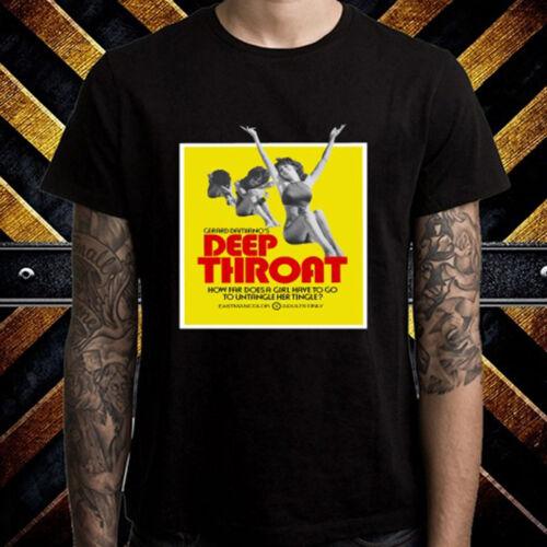 Gorge profonde Adult Movie Men/'s T-shirt noir taille S à 3XL poster
