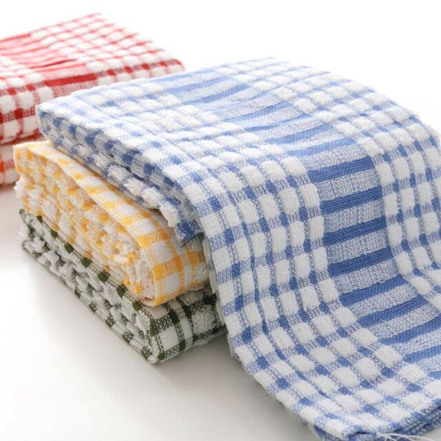 3PK LARGE DISH CLOTHS 100/% COTTON TEA TOWELS KITCHEN CLEANING DISHES DRYING