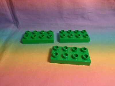 1 Lego Duplo Baseplate 4 X 8 Flat Dark Green