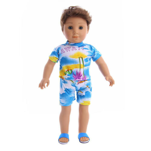 Fits 18 inch American Girl Dolls Zapf Logan Boy Doll Shorts Suit Jacket 2Pcs