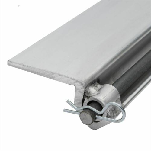 """48/"""" L Aluminum Skid Seat Attaching Bracket for Pin-End Ramp Systems"""