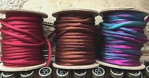 Piping-Cording-1-4-034-Hand-Dyed-Silk-Tubing-on-the-Bias-1yd-Made-in-USA