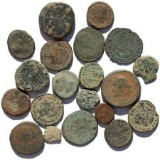 ONE AUTHENTIC UNCLEANED ANCIENT ROMAN EMPIRE BRONZE COIN - FREE SHIPPING