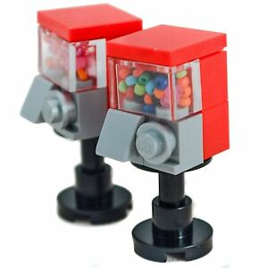 LEGO-Furniture-Red-Candy-Machines-Set-Pair-of-Two-minifigure-lot
