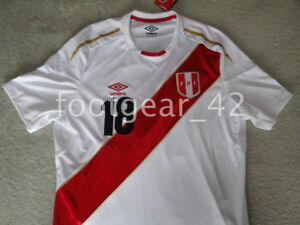 6c7909b47 New Official Umbro Peru Andre Carrillo World Cup Russia 2018 Soccer ...
