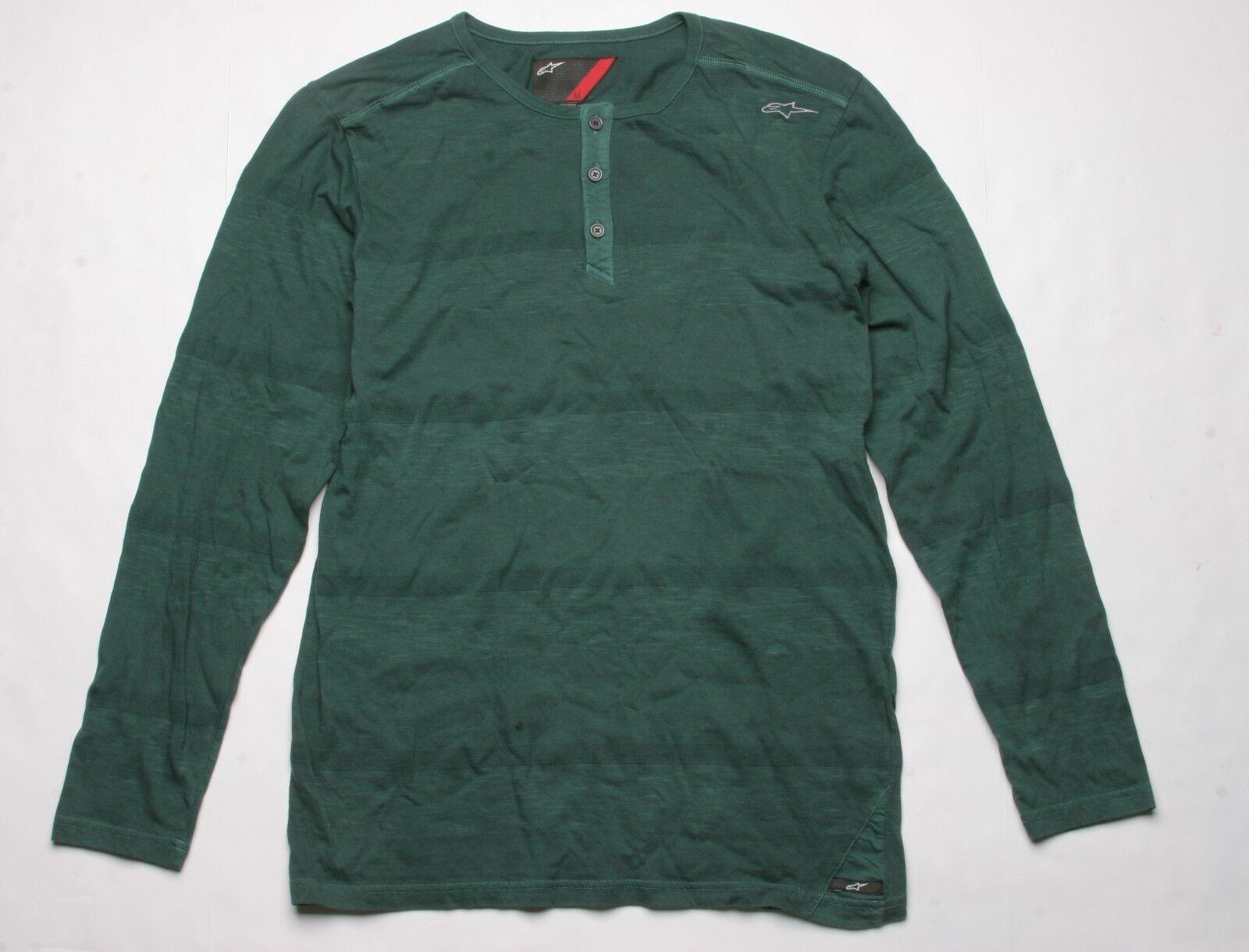 Alpinestars Belmont Long Sleeve Knit Henley (M) Grün