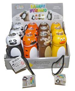 lampe de poche enfants dynamo animaux 4 couleurs sans piles neuf pierre cedric ebay. Black Bedroom Furniture Sets. Home Design Ideas