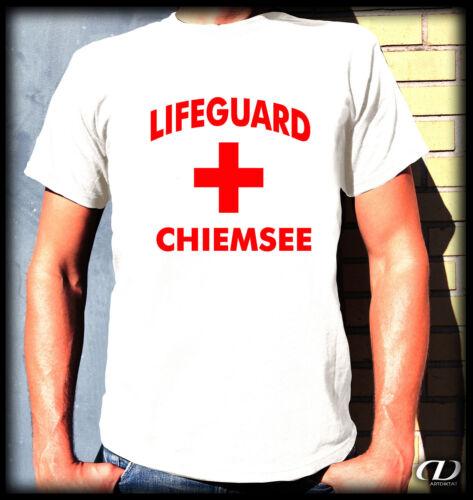Culte t-shirt-Lifeguard Chiemsee-s-xxl Fun sun Love plage messieurs île Bavière