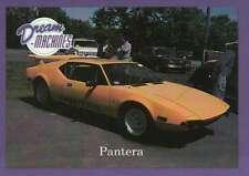 Pantera, Dream Machines Cars Trading Card, Automobile, Check List - Not Postcard