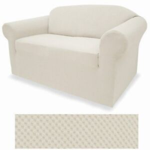 Image Is Loading Stretch Form Fit 3 Pcs Slipcovers Set Couch