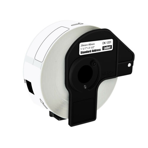 6 Rolls DK1201 White Address Labels 400 Labels For Brother QL-700 710W w//6 Frame