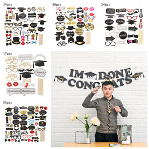 Class-Of-2019-Graduation-Grad-Party-Supplies-Masks-Photo-Booth-Props-Decoration