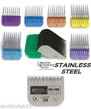 CLIPPER Blade& 7 STAINLESS STEEL GUIDE Guard COMB SET*FIT ANDIS AG,OSTER A5,WAHL