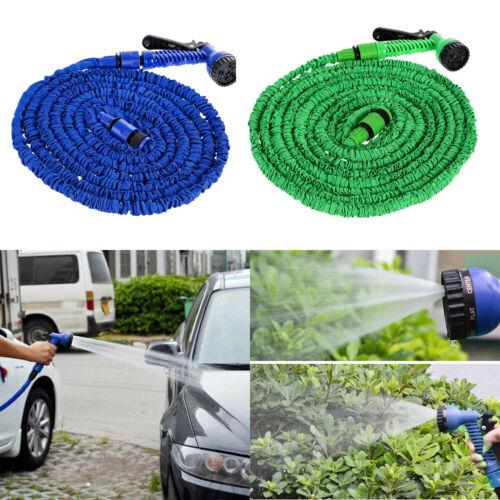 25-200FT Garden Hose Expandable Flexible Car Garden Water Hose with Spray Nozzle