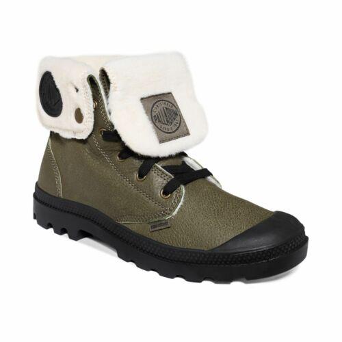 NIB Palladium Baggy Leather S Women/'s Olive Drab//Black Boots