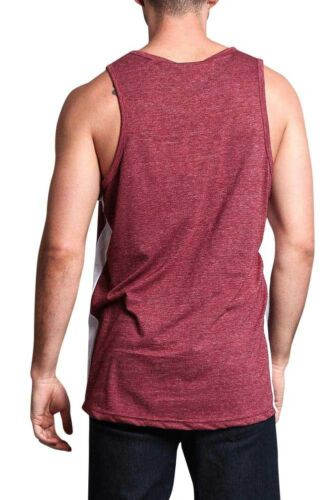 Victorious Men/'s Basic Tank Top with Accent Band Sleeveless T-SHIRTS TT49-F1C