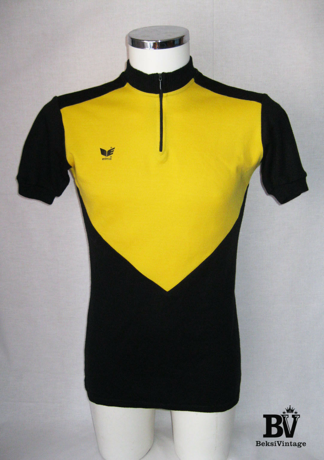 Vintage Retro Erima Cycling Shirt Jersey Trikot West Germany Yellow 80s Size M