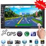 "GPS Navi 7"" HD Double 2 DIN Car Stereo Radio In Dash MP5 MP3 Player FM/USB +Map"