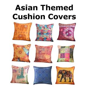 Luxury-Digital-Printed-Cushion-Covers-18-034-x-18-034-Asian-Elephant-Butterfly