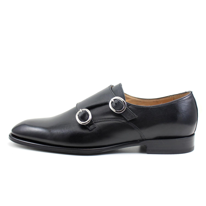 miglior prezzo Uomo oxford monk strap nero leather scarpe handmade Italian GIORGIO GIORGIO GIORGIO REA 7938NE  da non perdere!