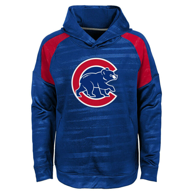 pretty nice 88604 3255b Chicago Cubs Youth Boys Clubhouse Pullover Hooded Sweatshirt - Blue